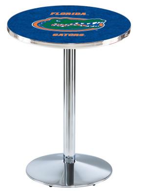 Florida Chrome L214 Logo Pub Table