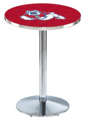 Fresno State Chrome L214 Logo Pub Table