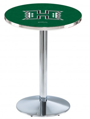 Hawaii Chrome L214 Logo Pub Table