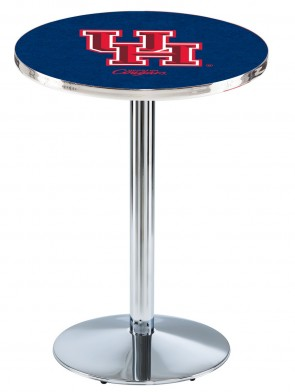 Houston Chrome L214 Logo Pub Table