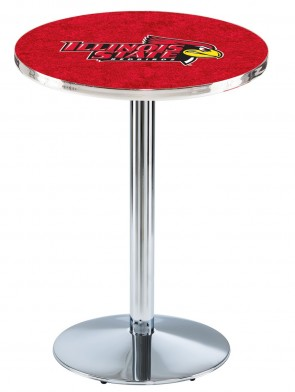 Illinois State Chrome L214 Logo Pub Table