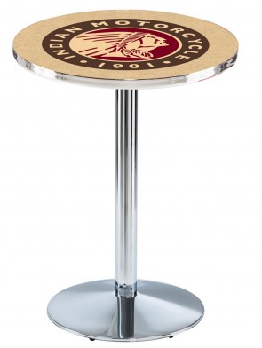 Indian Motorcycles Chrome L214 Logo Pub Table