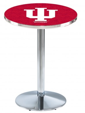 Indiana Chrome L214 Logo Pub Table