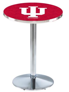 Indiana Chrome L214 Logo Pub Table