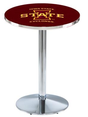 Iowa State Chrome L214 Logo Pub Table