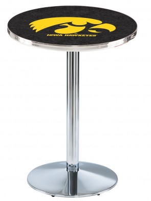 Iowa Chrome L214 Logo Pub Table