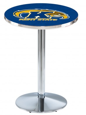 Kent State Chrome L214 Logo Pub Table