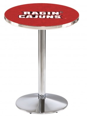 Louisiana at Lafayette Chrome L214 Logo Pub Table