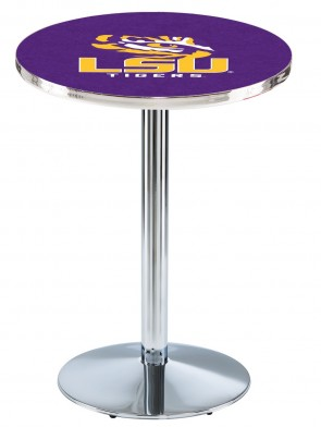 Louisiana State Chrome L214 Logo Pub Table