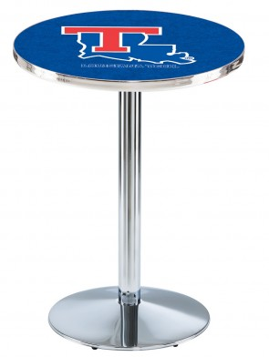 Louisiana Tech Chrome L214 Logo Pub Table