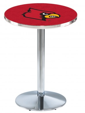 Louisville Chrome L214 Logo Pub Table