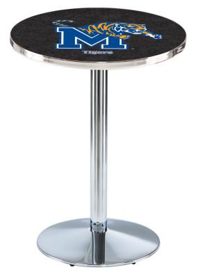 Memphis Chrome L214 Logo Pub Table