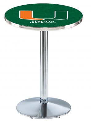 Miami Chrome L214 Logo Pub Table