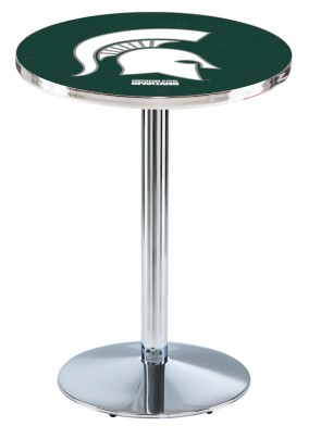 Michigan State Chrome L214 Logo Pub Table