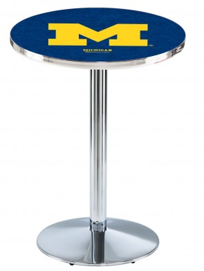 Michigan Chrome L214 Logo Pub Table