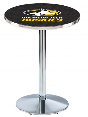 Michigan Tech Chrome L214 Logo Pub Table