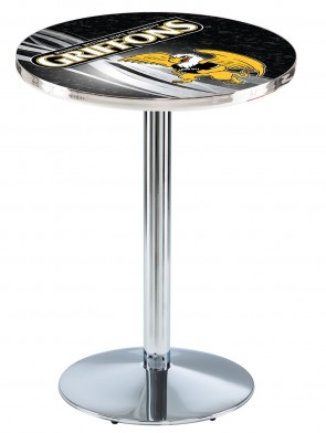 Missouri Western State Chrome L214 Logo Pub Table Design 2