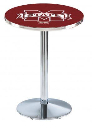 Mississippi State Chrome L214 Logo Pub Table
