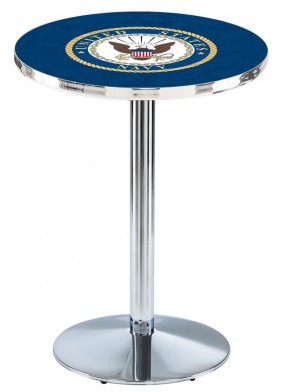 US Navy Chrome L214 Logo Pub Table