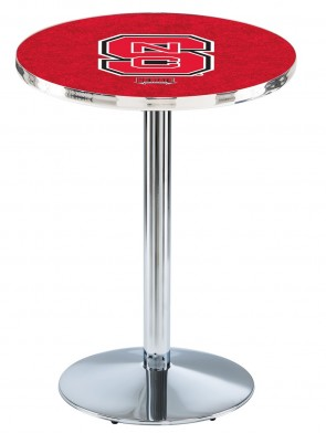 North Carolina State Chrome L214 Logo Pub Table