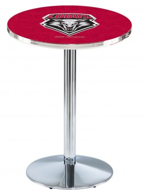 New Mexico Chrome L214 Logo Pub Table