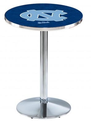 North Carolina Chrome L214 Logo Pub Table