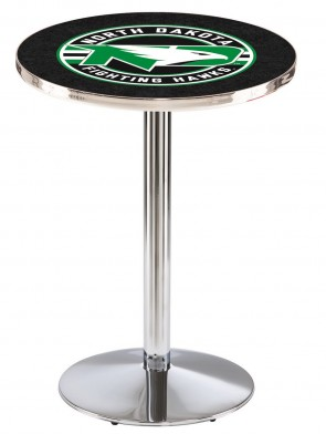 North Dakota Chrome L214 Logo Pub Table
