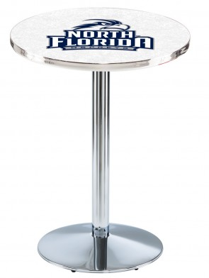North Florida Chrome L214 Logo Pub Table
