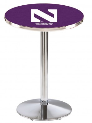 Northwestern Chrome L214 Logo Pub Table