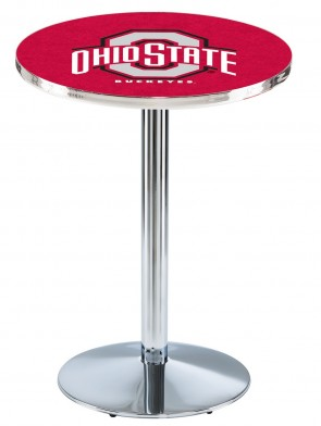 Ohio State Chrome L214 Logo Pub Table