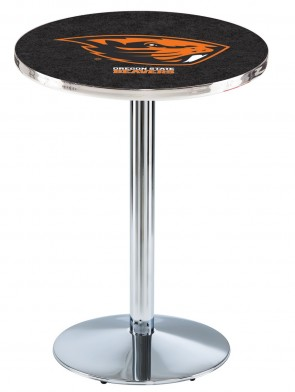 Oregon State Chrome L214 Logo Pub Table