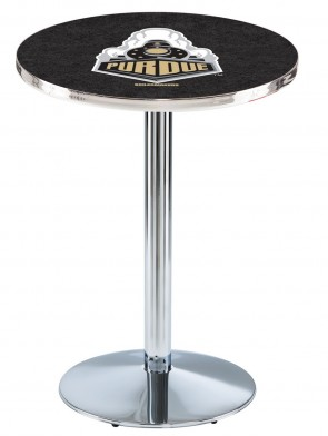 Purdue Chrome L214 Logo Pub Table