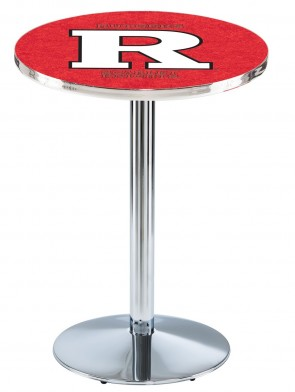 Rutgers Chrome L214 Logo Pub Table