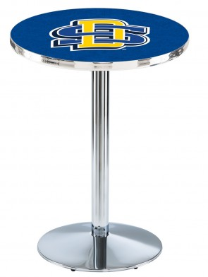 South Dakota State Chrome L214 Logo Pub Table