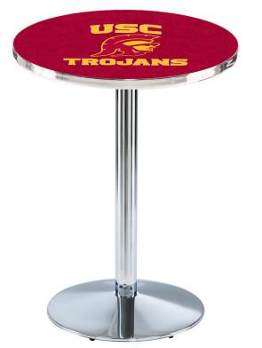 USC Chrome L214 Logo Pub Table
