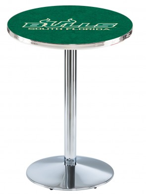 South Florida Chrome L214 Logo Pub Table