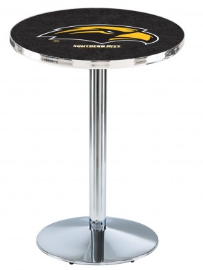 Southern Miss Chrome L214 Logo Pub Table