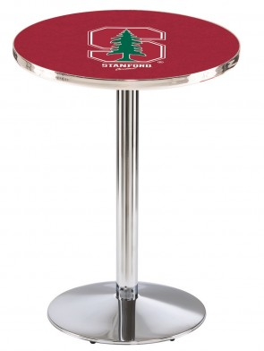 Stanford Chrome L214 Logo Pub Table