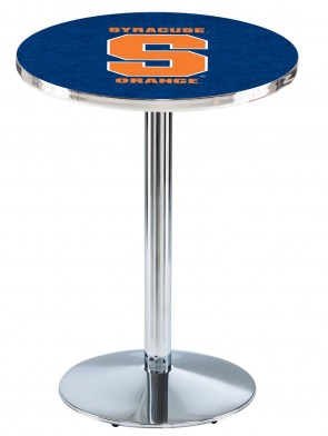Syracuse Chrome L214 Logo Pub Table
