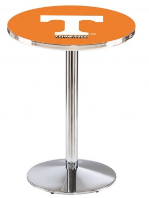 Tennessee Chrome L214 Logo Pub Table