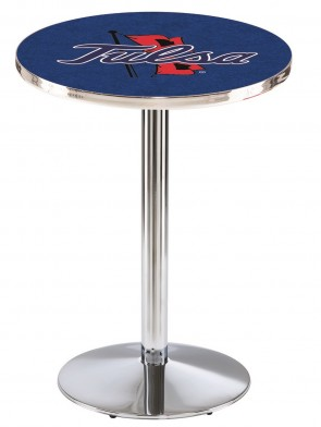 Tulsa Chrome L214 Logo Pub Table