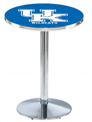 Kentucky Chrome L214 UK Logo Pub Table