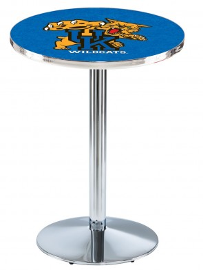 Kentucky Chrome L214 Wilcat Logo Pub Table