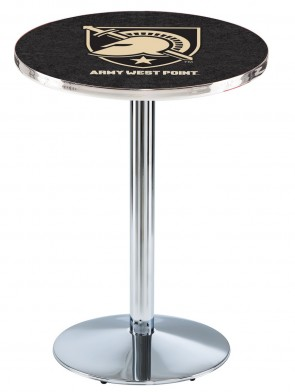 US Military Academy Chrome L214 Logo Pub Table