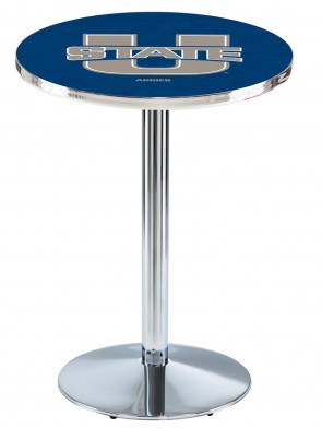 Utah State Chrome L214 Logo Pub Table