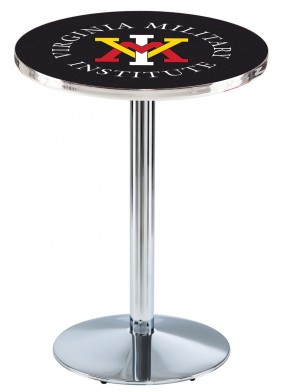 VMI Chrome L214 Logo Pub Table