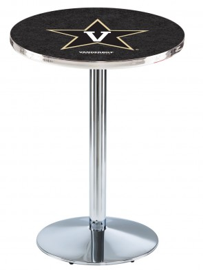 Vanderbilt Chrome L214 Logo Pub Table