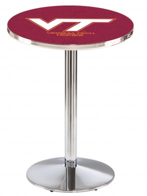 Virginia Tech Chrome L214 Logo Pub Table
