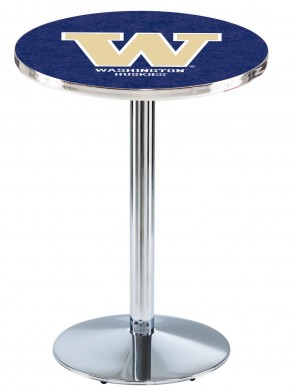 Washington Chrome L214 Logo Pub Table