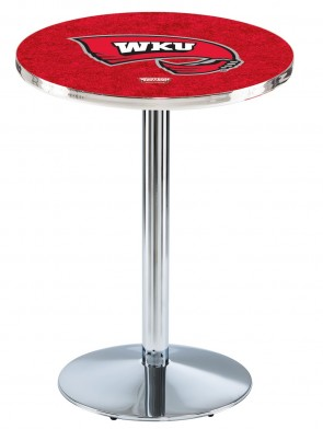 Western Kentucky Chrome L214 Logo Pub Table